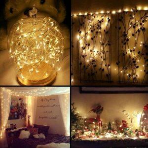 240-800 LED / 100M-6x4M Warm White Curtain Light